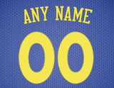 Golden State Warriors Jersey Poster - Print Personalized Select ANY Name & ANY Number - PixArtsy