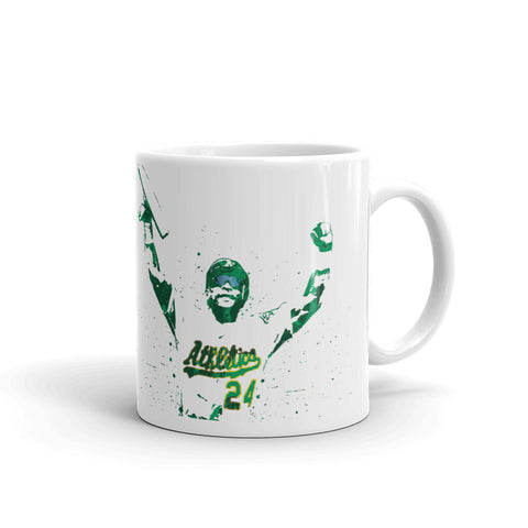 Rickey Henderson Oakland Athletics Mug - PixArtsy