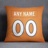 Denver Broncos Pillow Front and Back 18 x 18 - Print Personalized Select ANY Name & ANY Number - PixArtsy