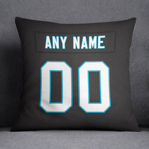 Carolina Panthers Pillow Front and Back 18 x 18 - Print Personalized Select ANY Name & ANY Number - PixArtsy