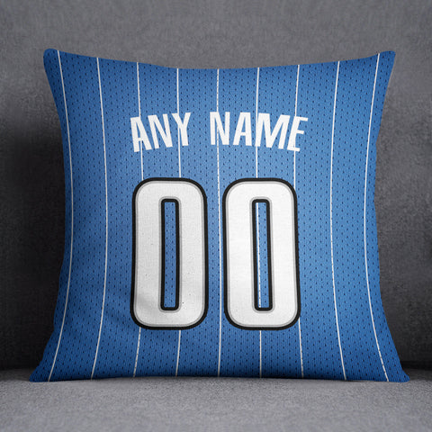 Orlando Magic Pillow Front and Back 18 x 18 - Print Personalized Select ANY Name & ANY Number - PixArtsy