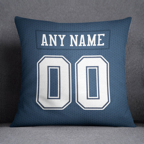 Dallas Cowboys Pillow Front and Back 18 x 18 - Print Personalized Select ANY Name & ANY Number - PixArtsy - 1