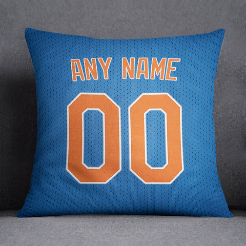 New York Mets Pillow Front and Back 18 x 18 - Print Personalized Select ANY Name & ANY Number - PixArtsy