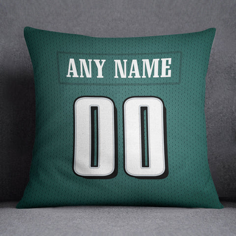 Philadelphia Eagles Pillow Front and Back 18 x 18 - Print Personalized Select ANY Name & ANY Number - PixArtsy