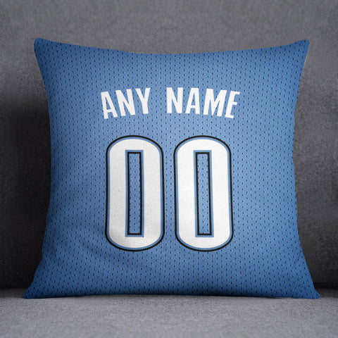 OKC Thunder Pillow Front and Back 18 x 18 - Print Personalized Select ANY Name & ANY Number - PixArtsy
