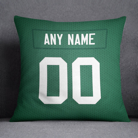 Green Bay Packers Pillow Front and Back 18 x 18 - Print Personalized Select ANY Name & ANY Number - PixArtsy