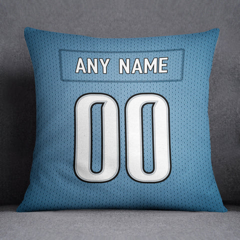 Detroit Lions Pillow Front and Back 18 x 18 - Print Personalized Select ANY Name & ANY Number - PixArtsy