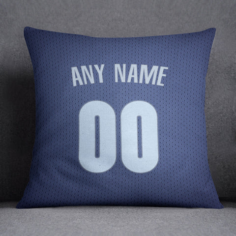 Memphis Grizzlies Pillow Front and Back 18 x 18 - Print Personalized Select ANY Name & ANY Number - PixArtsy