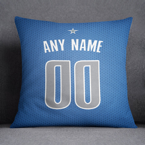 Dallas Mavericks Pillow Front and Back 18 x 18 - Print Personalized Select ANY Name & ANY Number - PixArtsy