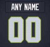 Seattle Seahawks Jersey Poster - Print Personalized Select ANY Name & ANY Number - PixArtsy