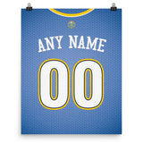 Denver Nuggets Jersey Poster - Print Personalized Select ANY Name & ANY Number - PixArtsy - 3