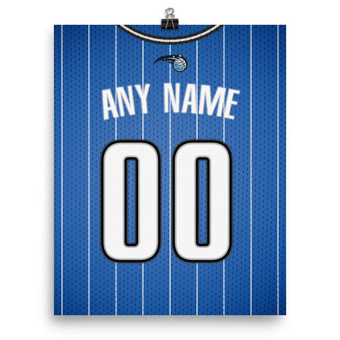 Orlando Magic Jersey Poster - Print Personalized Select ANY Name & ANY Number - PixArtsy