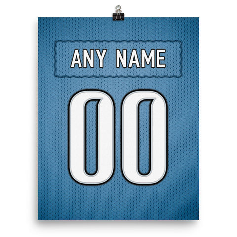 Detroit Lions Jersey Poster - Print Personalized Select ANY Name & ANY Number - PixArtsy