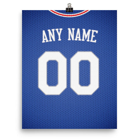 Philadelphia 76ers Jersey Poster - Print Personalized Select ANY Name & ANY Number - PixArtsy - 2