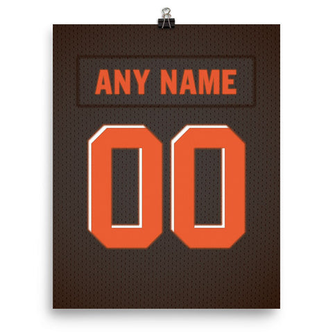 Cleveland Browns Jersey Poster - Print Personalized Select ANY Name & ANY Number - PixArtsy - 2