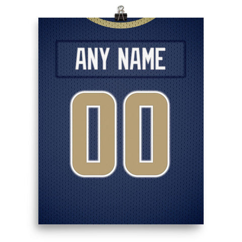 Los Angeles Rams Jersey Poster - Print Personalized Select ANY Name & ANY Number - PixArtsy - 2