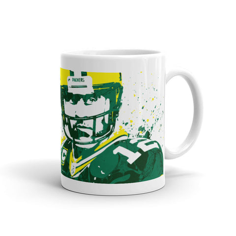 Aaron Rodgers Green Bay Packers Mug - PixArtsy - 1