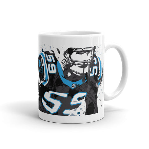 Luke Kuechly Carolina Panthers Mug - PixArtsy - 1