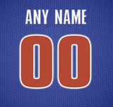 Detroit Pistons Jersey Poster - Print Personalized Select ANY Name & ANY Number - PixArtsy