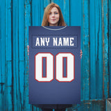 New England Patriots Jersey Poster - Print Personalized Select ANY Name & ANY Number - PixArtsy
