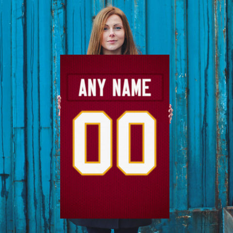 6d7455bbdfa ... Washington Redskins Jersey Poster - Print Personalized Select ANY Name  & ANY Number - PixArtsy ...