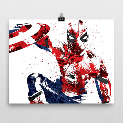 Civil War Spider-Man Poster - PixArtsy