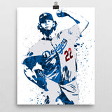 Clayton Kershaw Los Angeles Dodgers Poster - PixArtsy