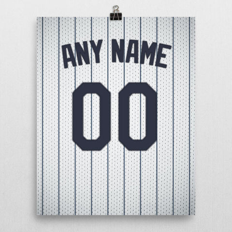 New York Yankees Jersey Poster - Print Personalized Select ANY Name & ANY Number - PixArtsy