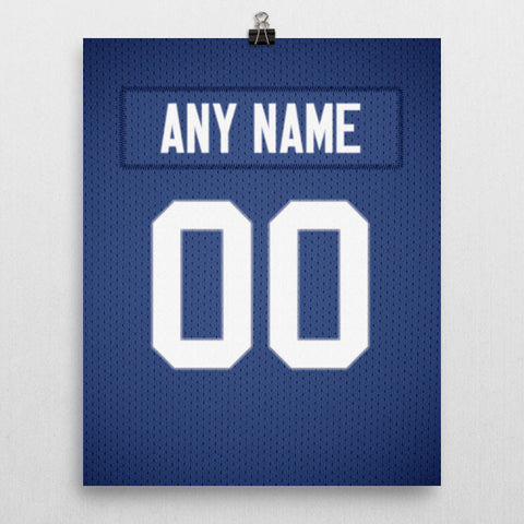 New York Giants Jersey Poster - Print Personalized Select ANY Name & ANY Number - PixArtsy - 2