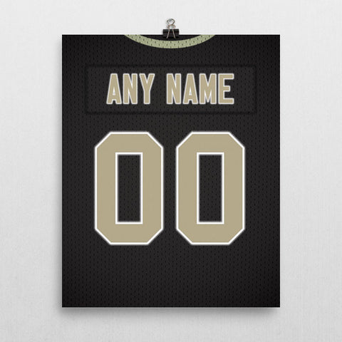 New Orleans Saints Jersey Poster - Print Personalized Select ANY Name & ANY Number - PixArtsy - 2