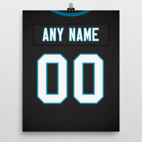 Carolina Panthers Jersey Poster - Print Personalized Select ANY Name & ANY Number - PixArtsy