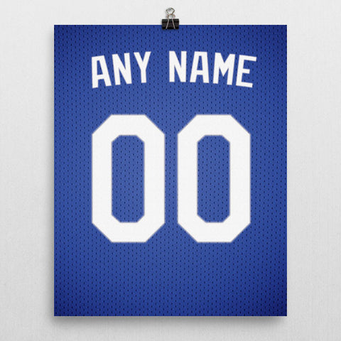 Los Angeles Dodgers Jersey Poster - Print Personalized Select ANY Name & ANY Number - PixArtsy - 2