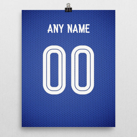 Chelsea Football Soccer Jersey Poster - Print Personalized Select ANY Name & ANY Number - PixArtsy - 2
