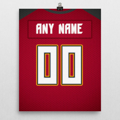 0b4e41838c8 Tampa Bay Bucs Jersey Poster - Print Personalized Select ANY Name & ANY  Number - PixArtsy