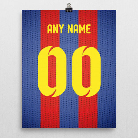 948d45d90 FC Barcelona Soccer Jersey Poster - Print Personalized Select ANY Name & ANY  Number - PixArtsy