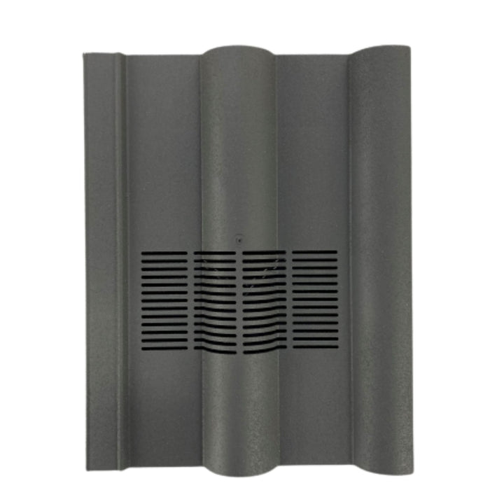 Beddoes Products Inline Double Roman Roof Tile Vent Slate Grey Granular Sanded