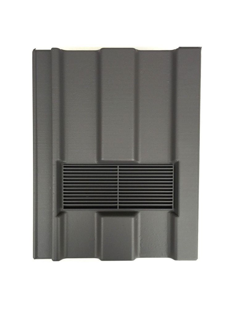 Beddoes Products Inline Marley Ludlow Major Vent Tile Grey - Smooth