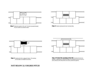 Beddoes Products Inline Redland Delta Roof Tile Vent Fitting Instructions