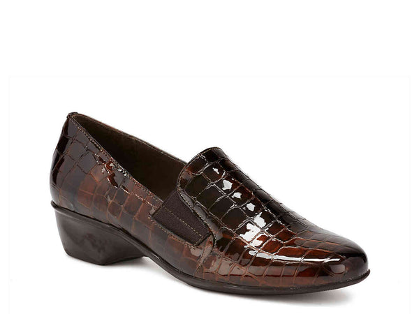 Walking Cradles w0234244 Brown Patent Croc