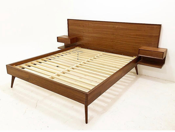 LIZETTE Walnut Platform Bed