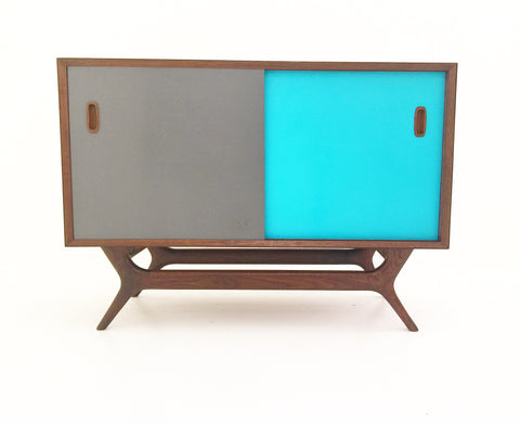 Colored Door Credenza