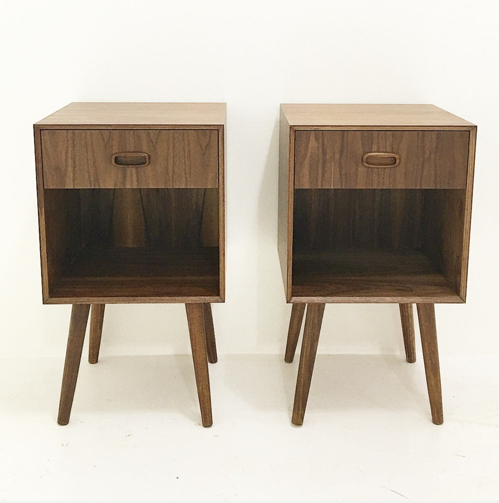 Walnut Nightstands- Single Drawer