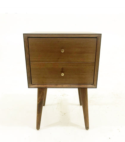 Clark Double Drawer Nightstand