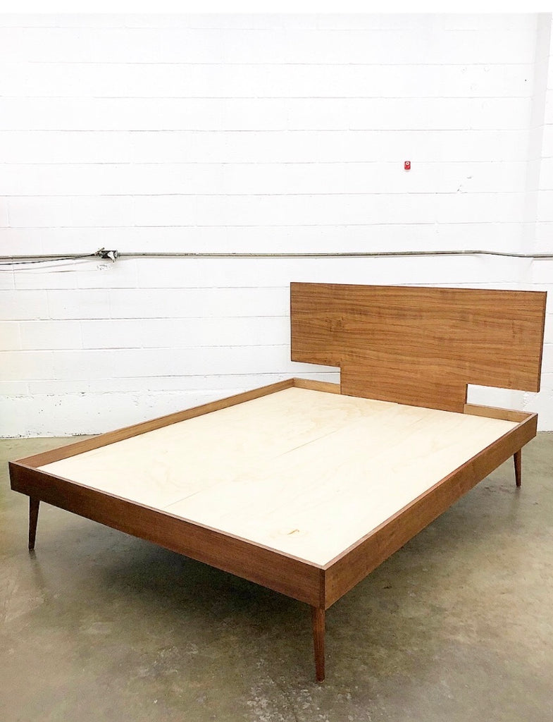 mid century bed frame