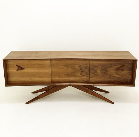 Atomic Base Walnut Credenza