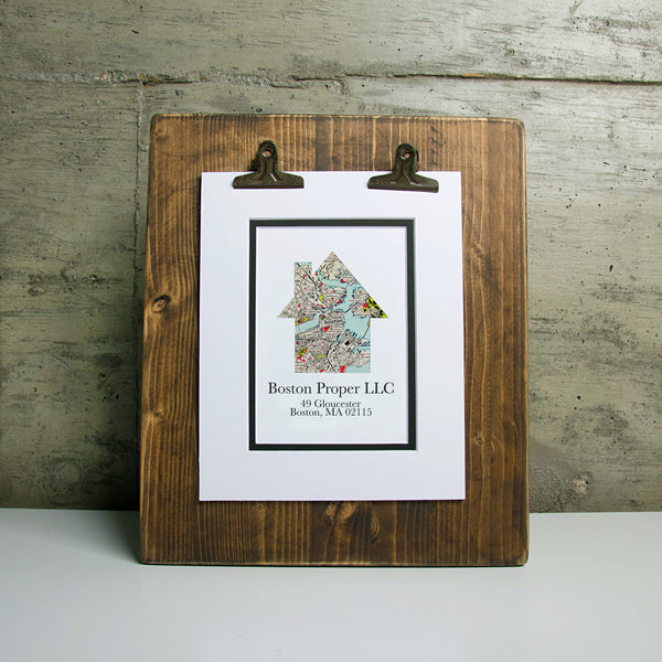 Custom Corporate Gift - Personalized Map and Business Name