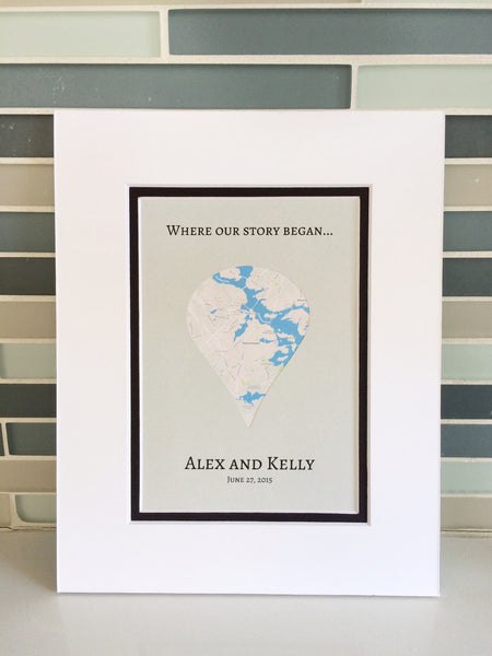 Where Our Story Began - Long Distance Relationship Gift- Gift For Boyfriend or Girlfriend - Anniversary