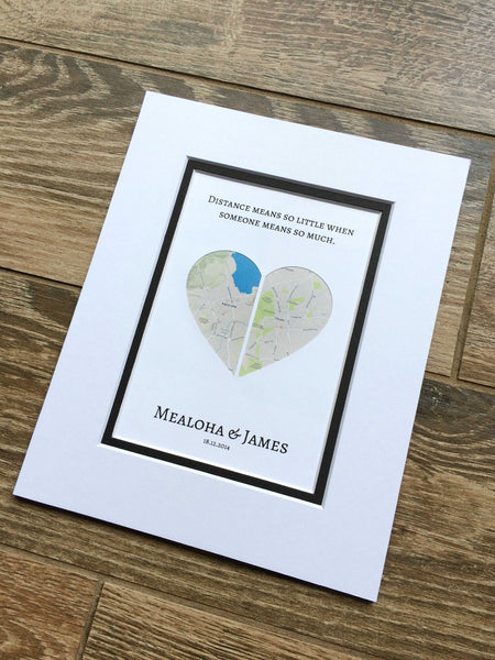 Long Distance Relationship Gift-  Moving Away or Going Away Present- Deployment Gift Ideas