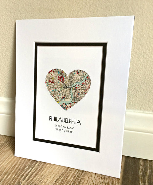 Wedding Gifts For Fiance: Personalized Map Art- Gift For Girlfriend Or Boyfriend