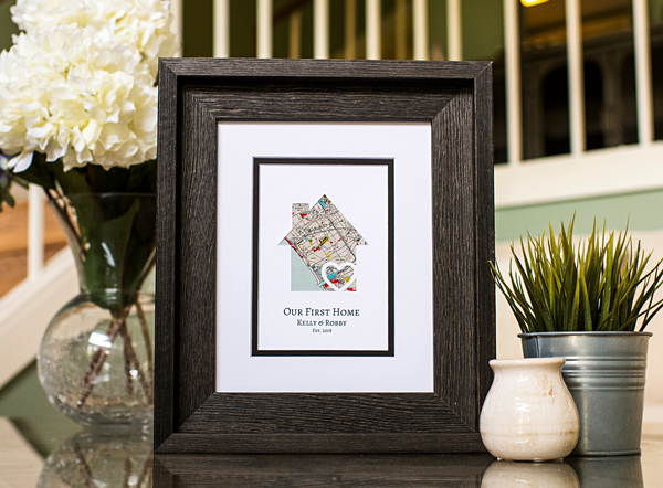 Our First Home, New Home Housewarming Gift, Personalized Map, Realtor Closing Gift, New Homeowner, New Homeowners Gift